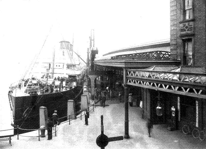 Holyhead Railway Station and inner harbour in 1905