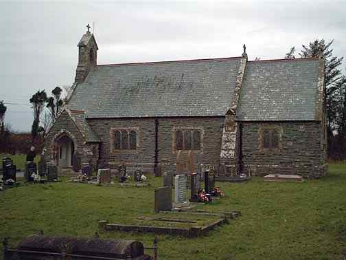 The new Llantrisant Church - Three Saints - Gafran, Ieuan and Sannan