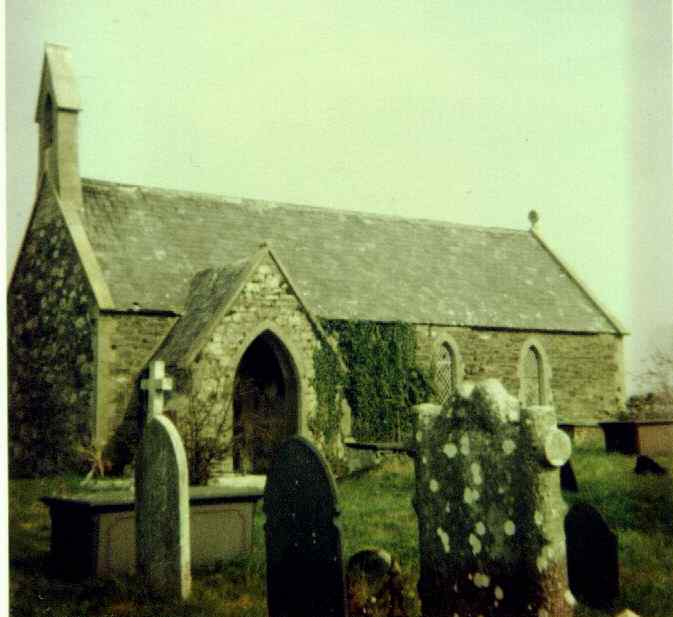 Llanynghenedl  Church - now sadly demolished