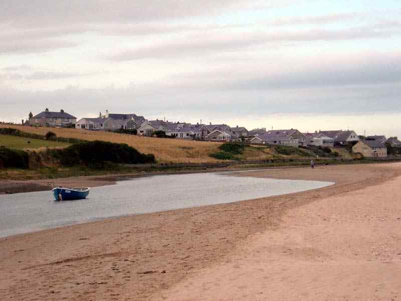Aberffraw village from the Estuary