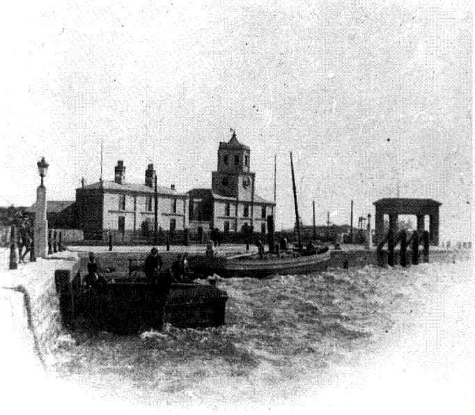 An early picture of the Admiralty Pier