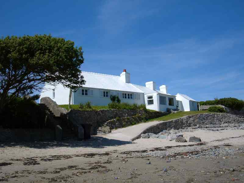 A cottage on Rhoscolyn Beach