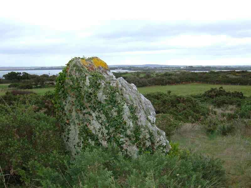 Anglesey, Trearddur Bay Standing Stone - showing the view