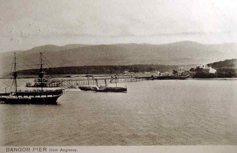 Bangor Pier from Anglesey 1906