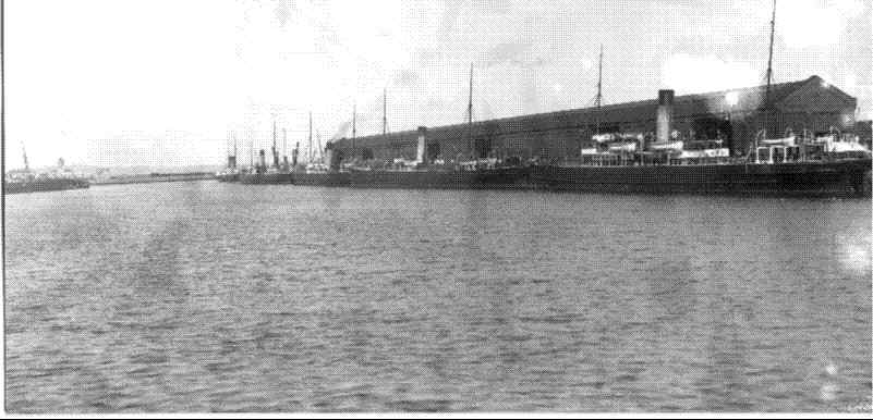 Mailboats in Holyhead Harbour - probably in 1905