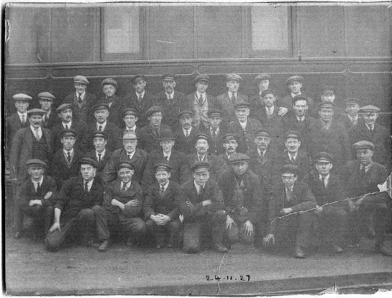 A 1927 staff photograph of British Rail workers