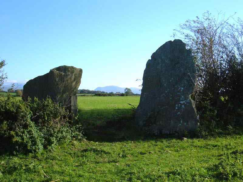 Bryn Gwyn Standing Stones Gate Digitally Removed