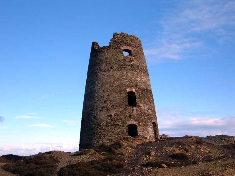 Anglesey, Amlwch, Parys Mountain, Water Pumping Windmill