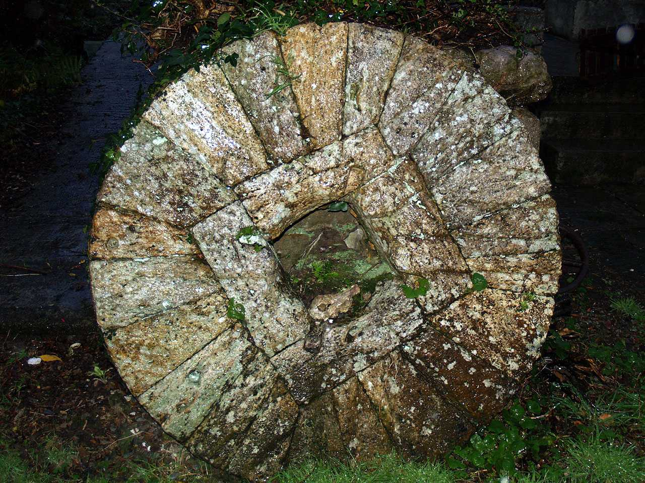 Anglesey, Bodffordd, Frogwy Water Mill - Millstone