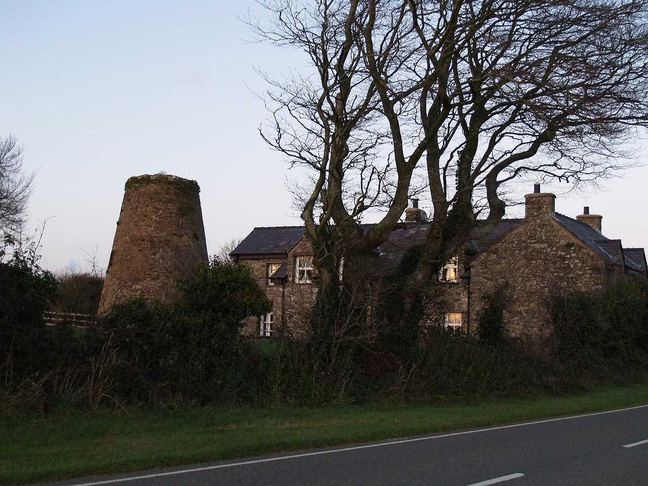 Anglesey, Capel Coch, Bryn Felin Wind Mill and House - Nov 2009