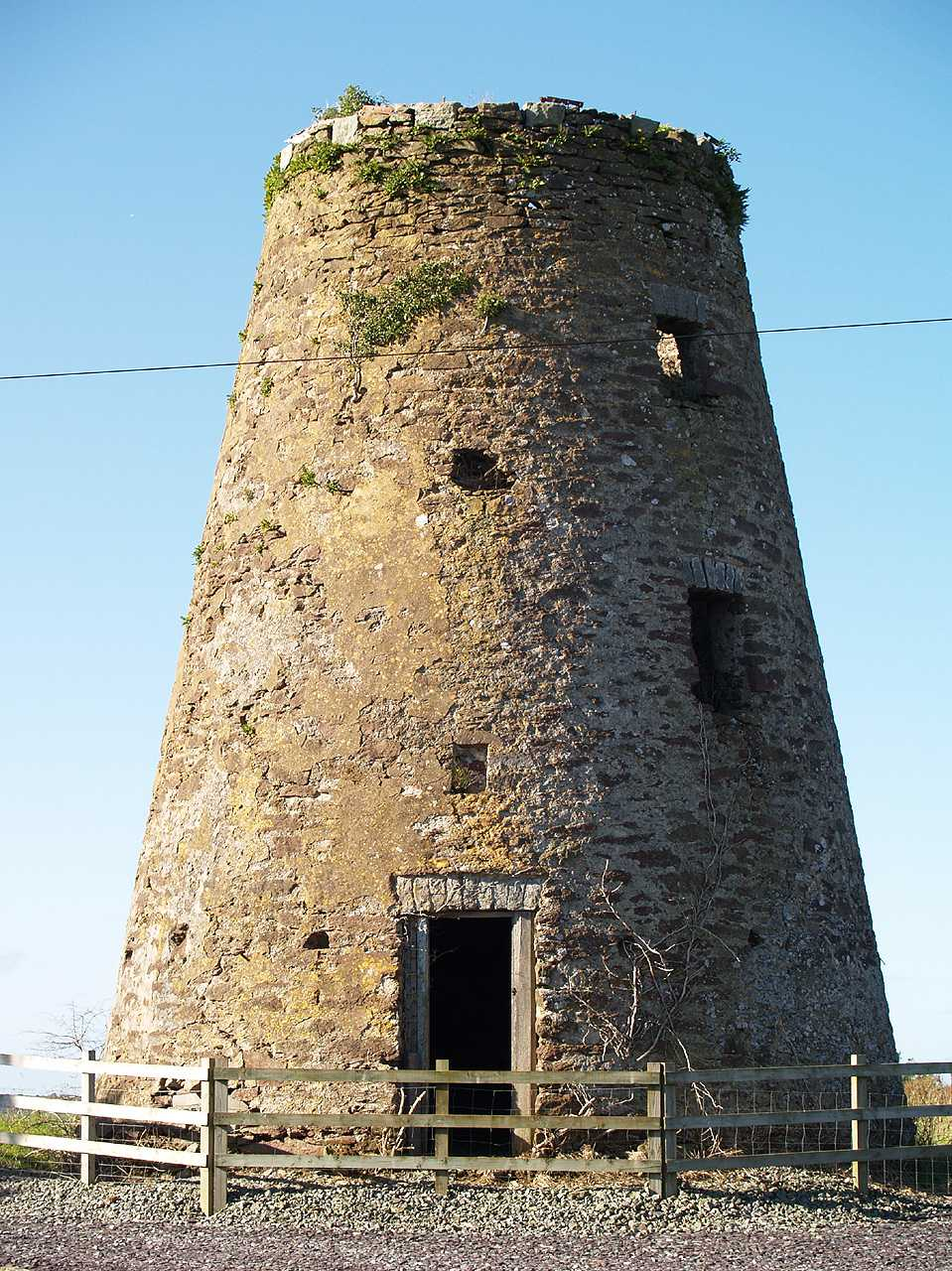 Anglesey, Capel Coch, Melin Llwydiarth Windmill in May 2008