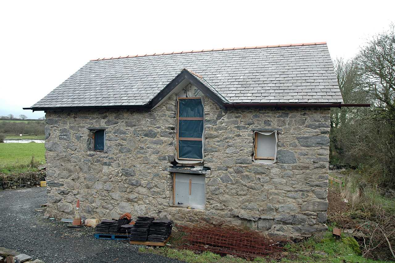 Anglesey, Dwyran, Felin Bach Water Mill - being converted in December 2009