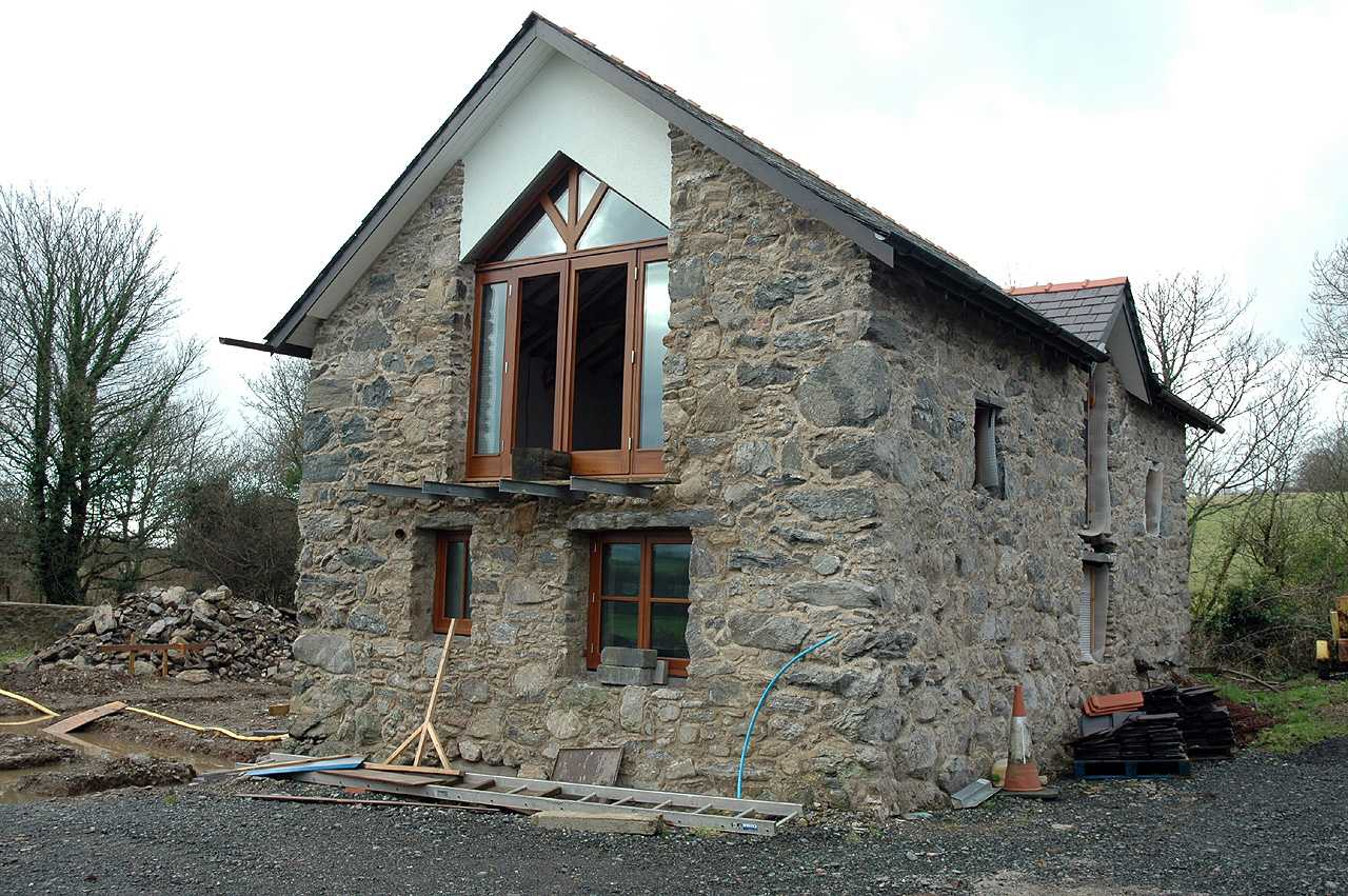 Anglesey, Dwyran, Felin Bach Water Mill - nearing completion in December 2009