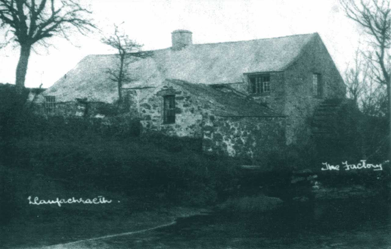glesey, Llanfachraeth, the original Erw Coch Water Mill - known as the Factory