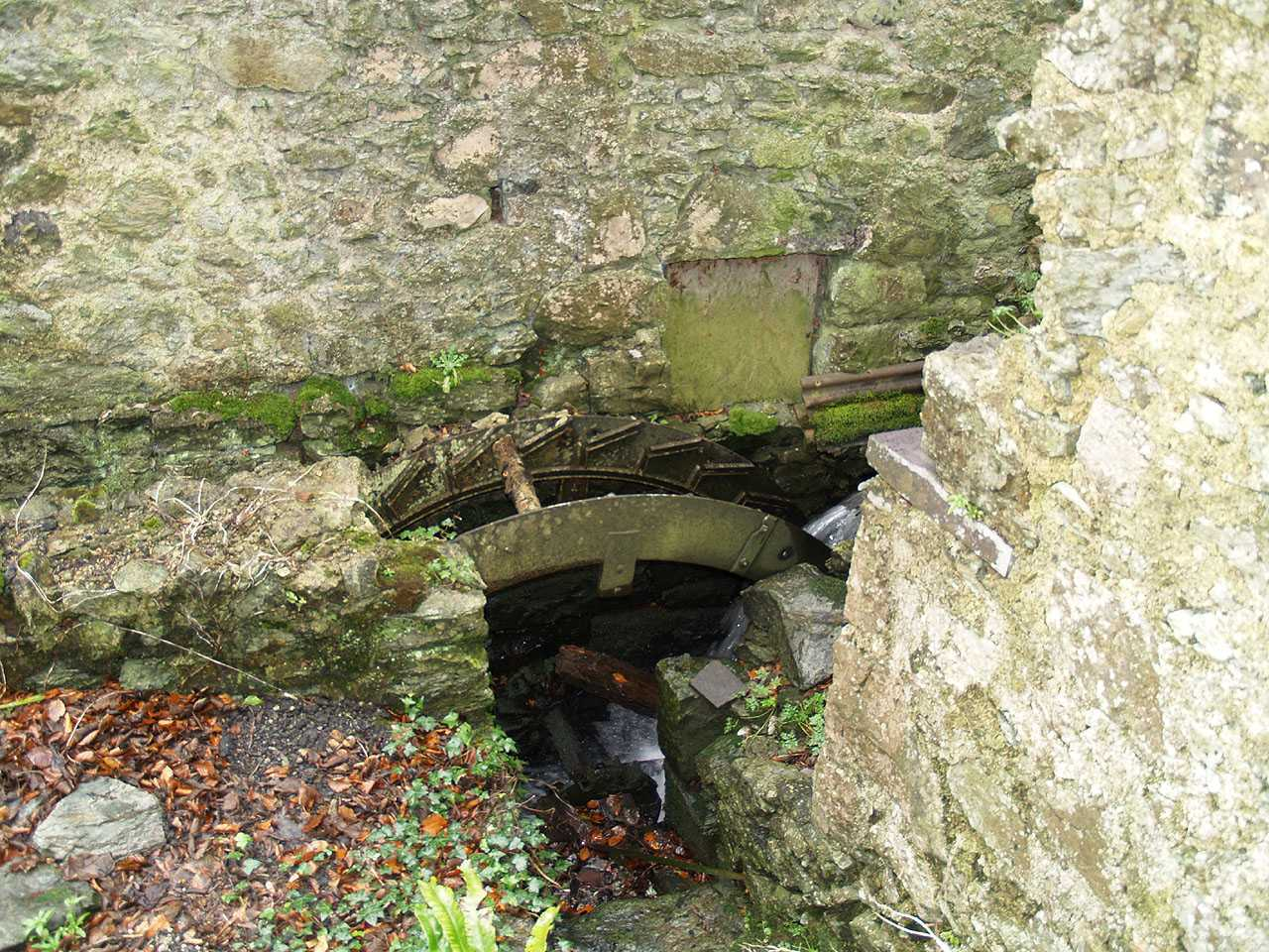 Anglesey, Llangefni Water Mill - the water wheel minus the wood blades