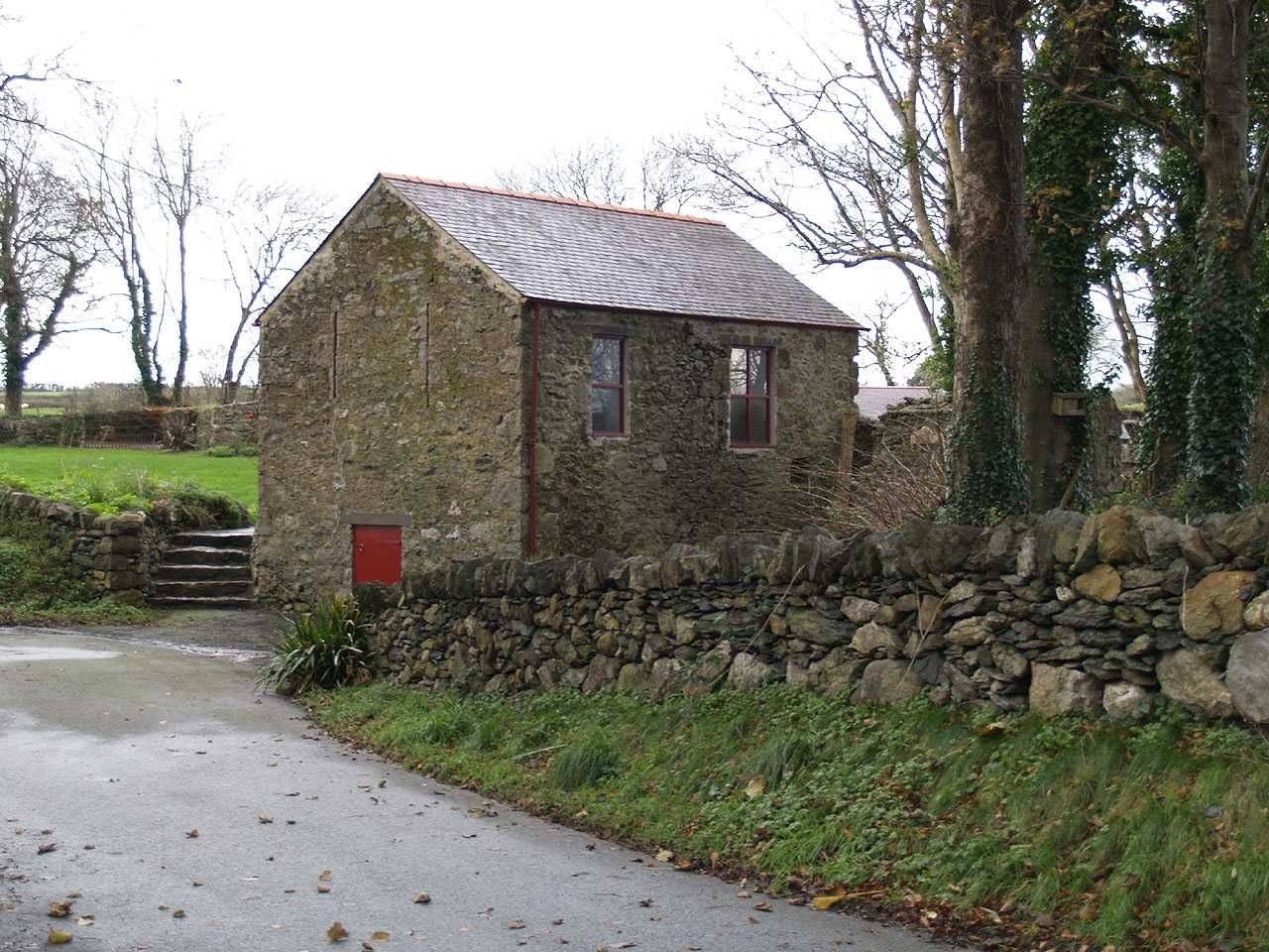 Anglesey, Llangefni Water Mill from Lon Vron