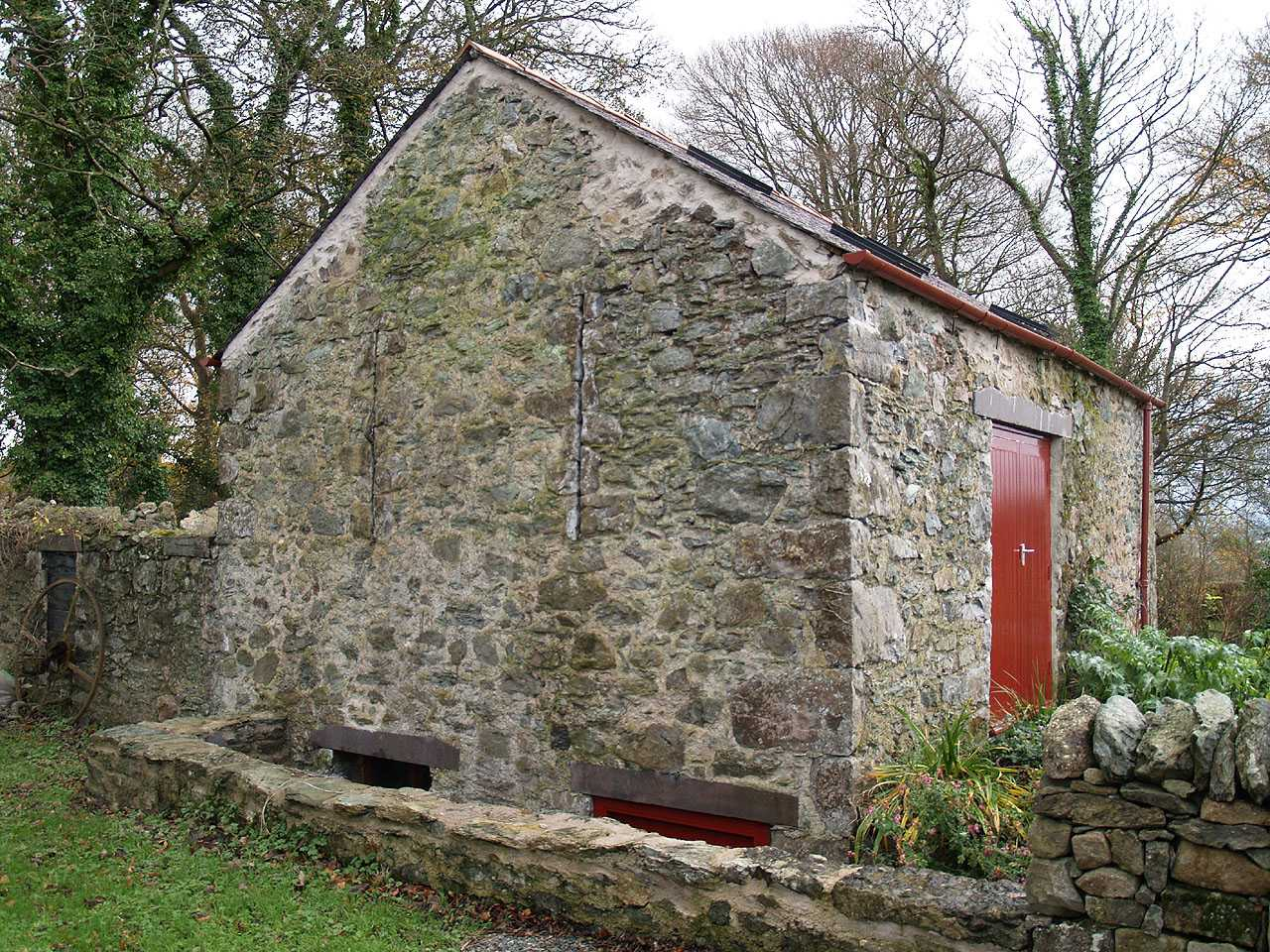Anglesey, Llangefni Water Mill showing cellar below