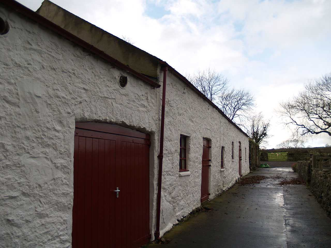 Anglesey, Llangefni Water Mill, rear view of the outbuildings