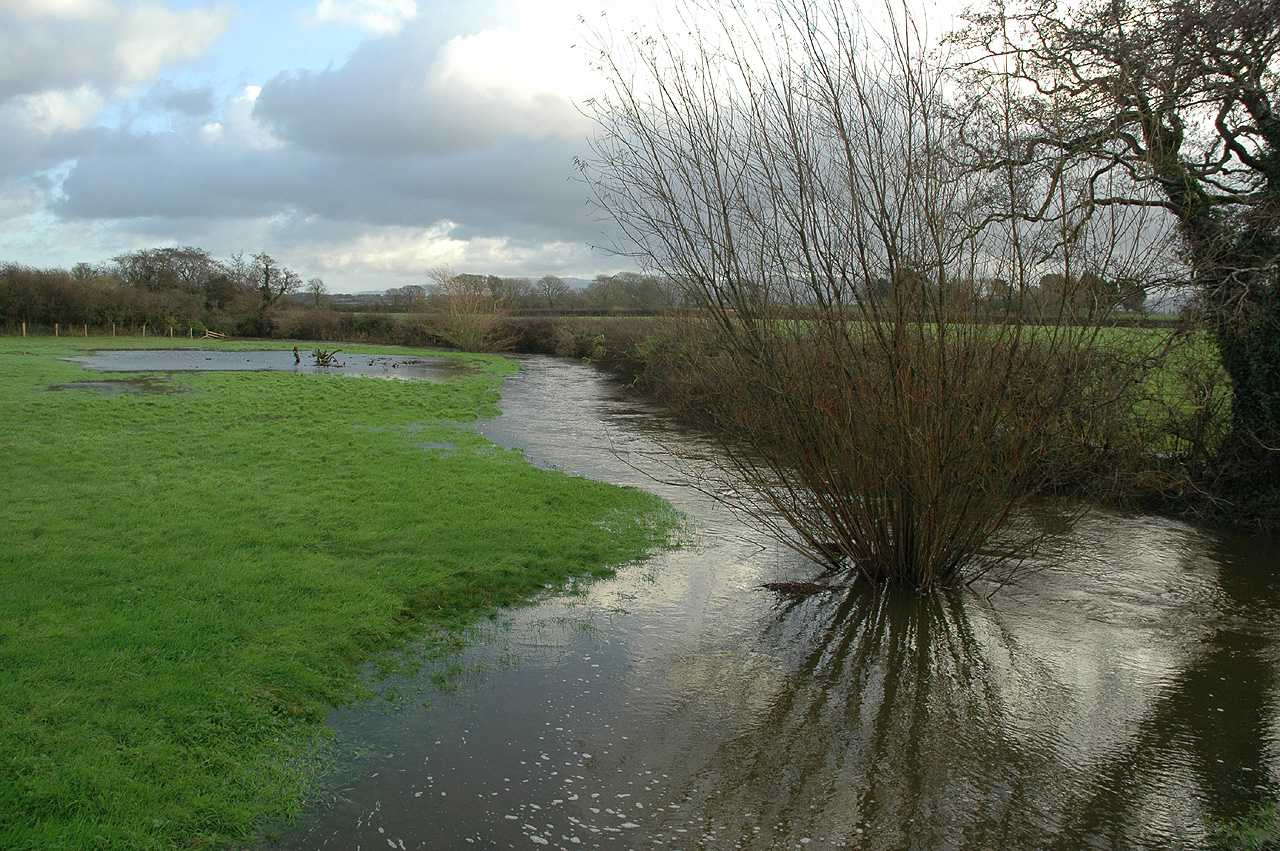 Anglesey, The swollen Afon Braint River in December 2009