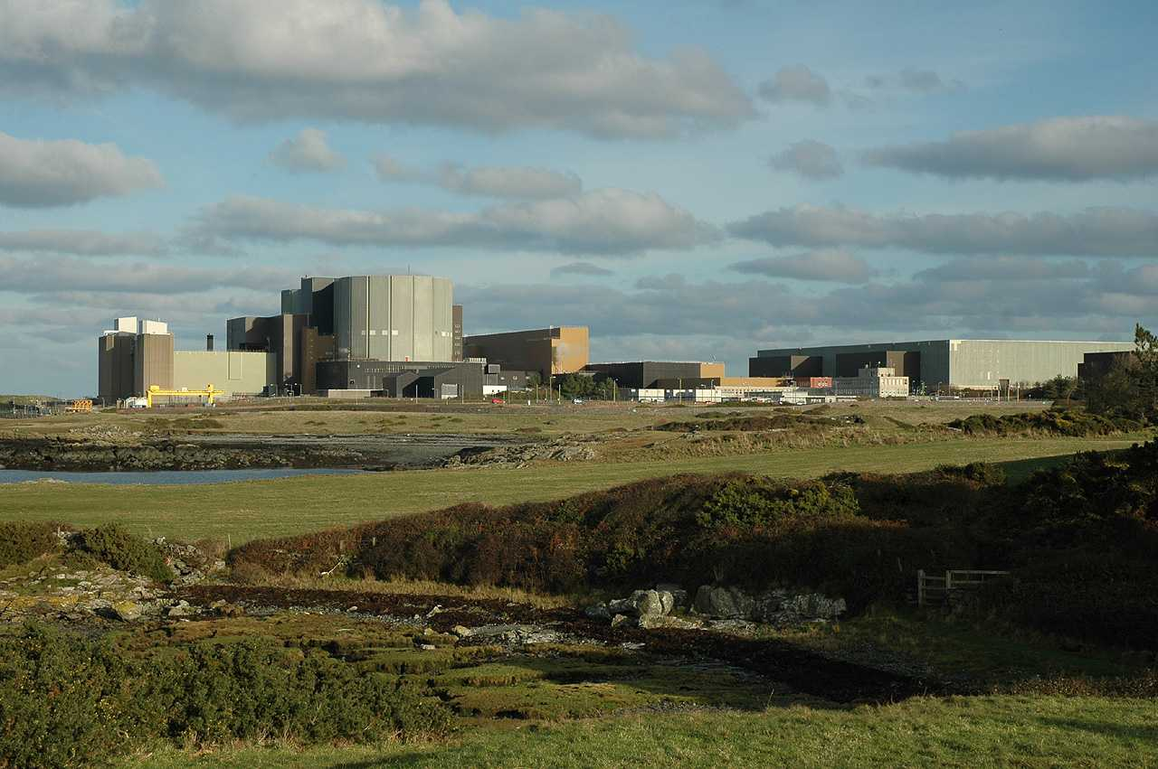 Cemlyn, Wylfa Nuclear Power Station from Felin Cafnan
