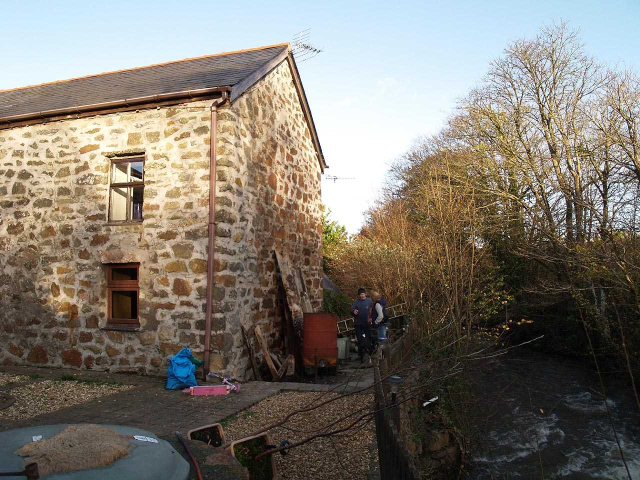 City Dulas, Felin Dulas Watermill - The Water Mill and its' proximity to the River