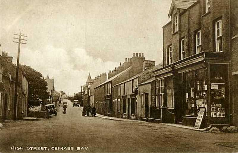 Anglesey, Cemaes Bay,  High St 1915