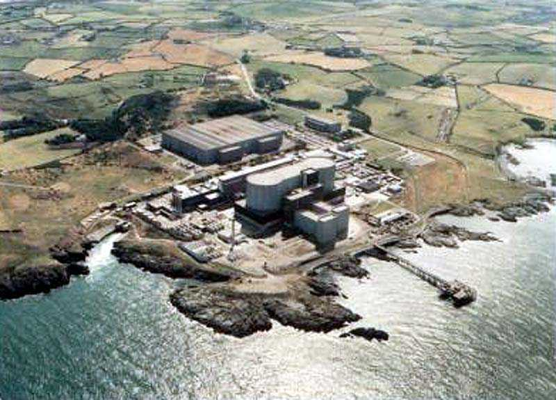 Wylfa Power Station from the air