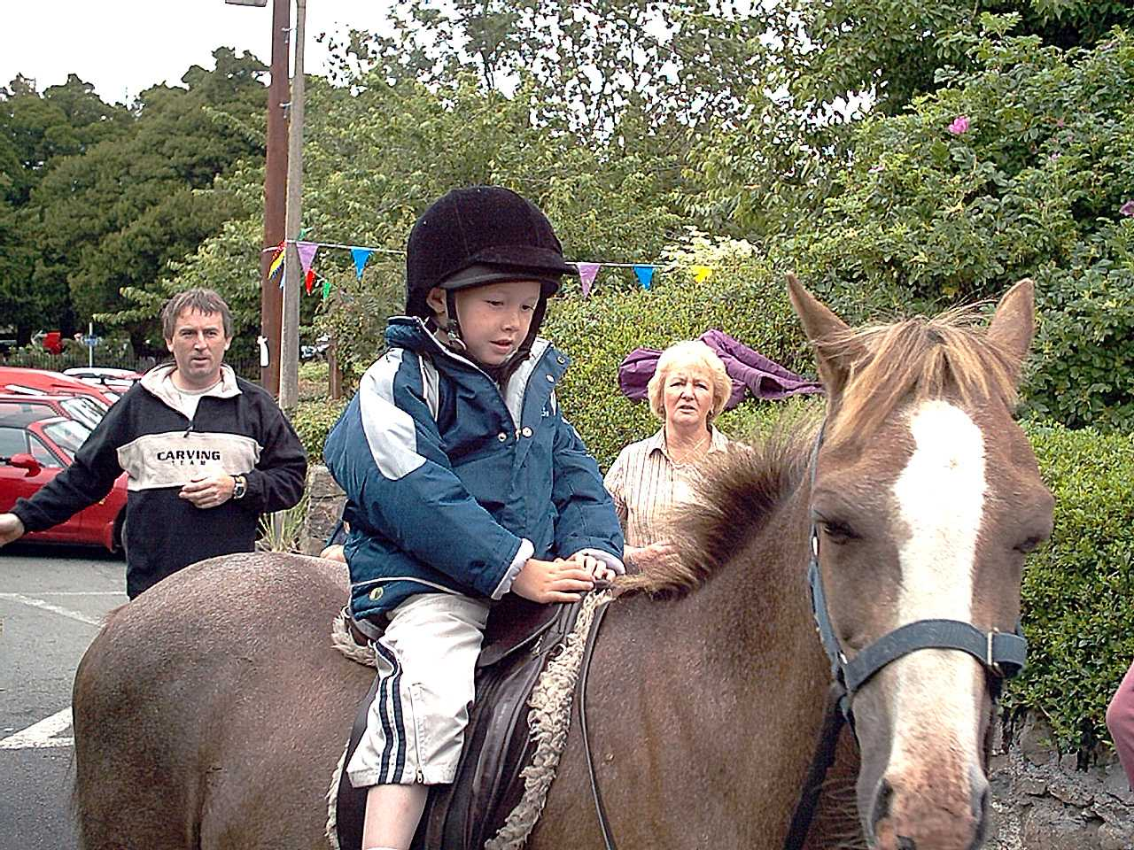 Anglesey, Grandson Ben on a horse in 2003