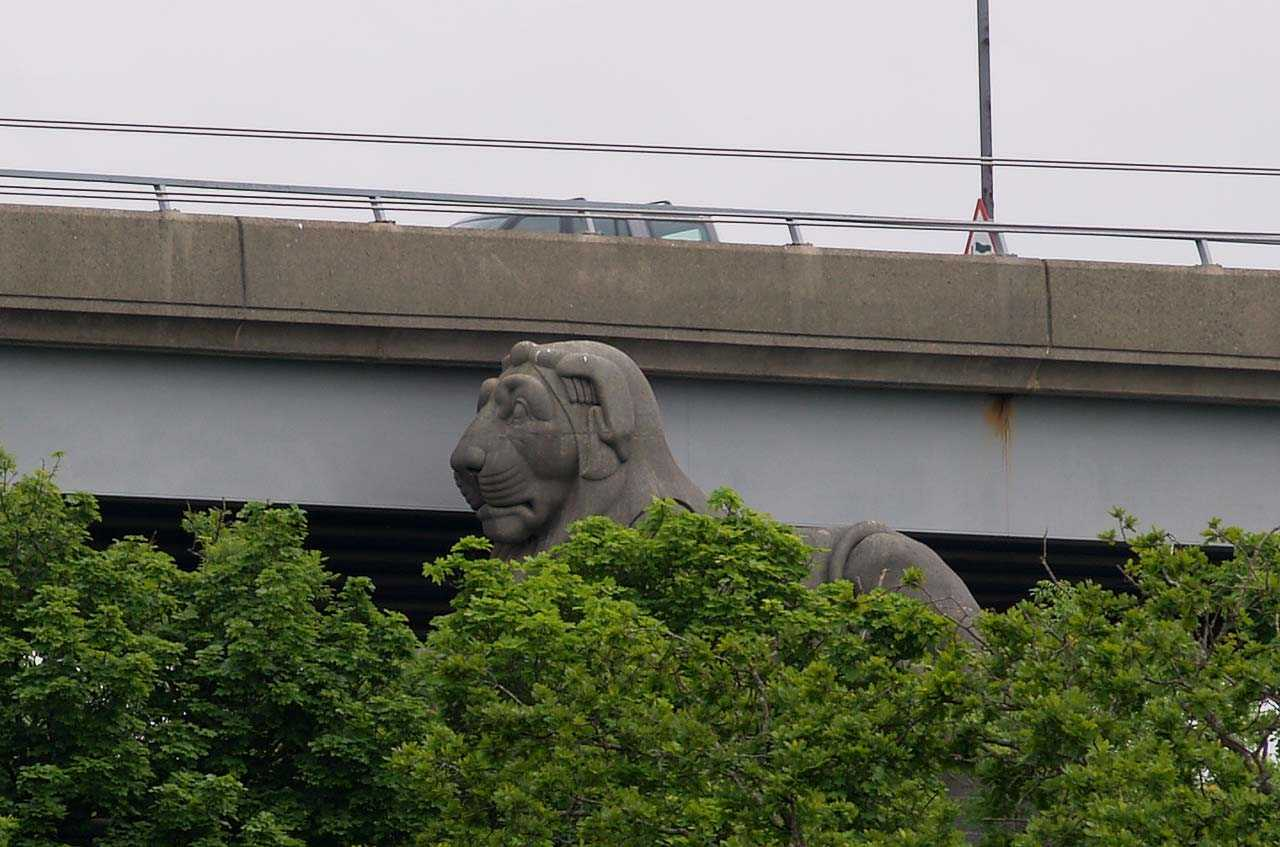 When you are on the Road Bridge you are just feet away from the original Lions