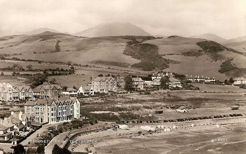 Criccieth from the Castle late 1940's