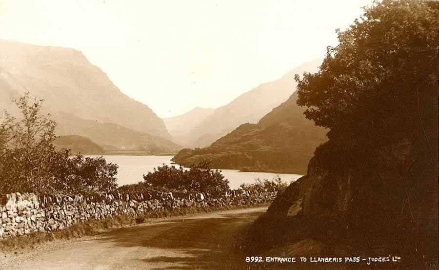 llanberis pass entrance  in the 1920's