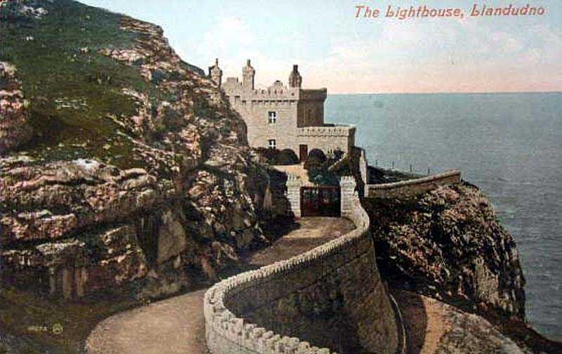 llandudno lighthouse in the 1910's