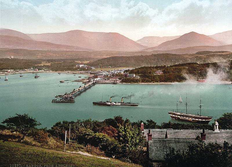 bangor from anglesey an old photo