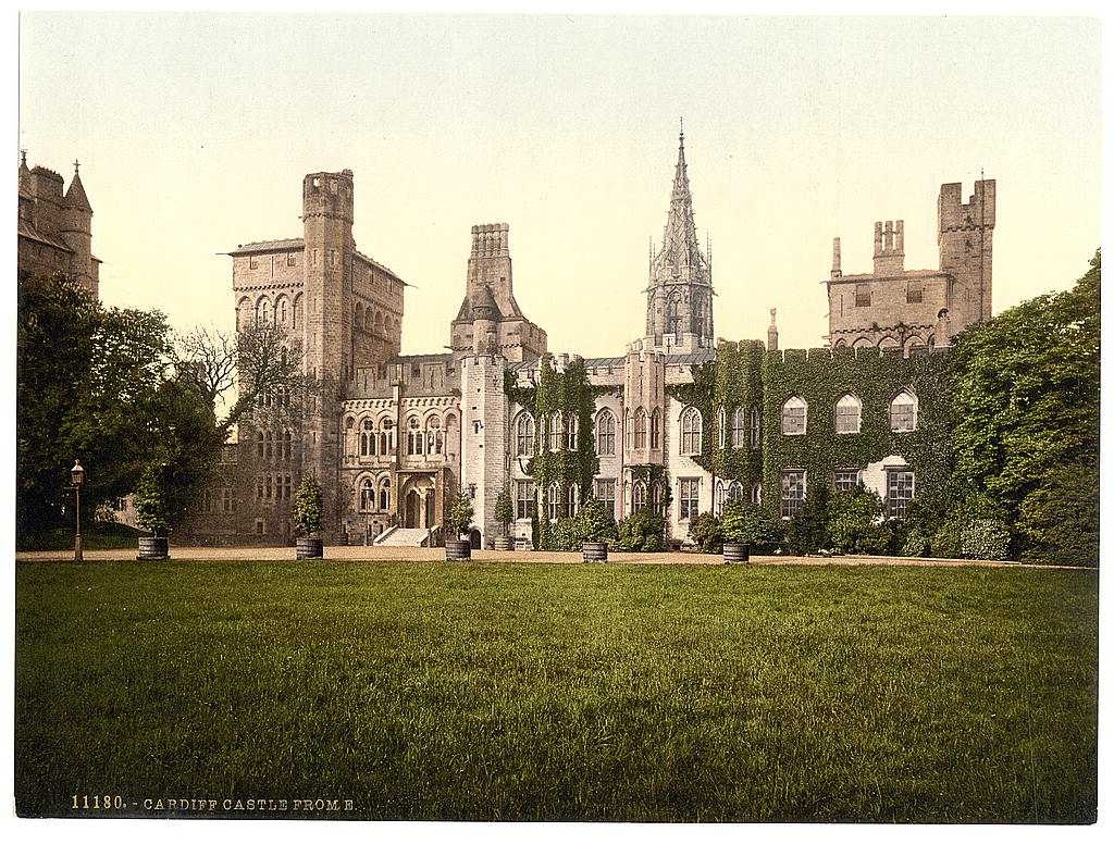 Glamorgan, Cardiff Castle from the East