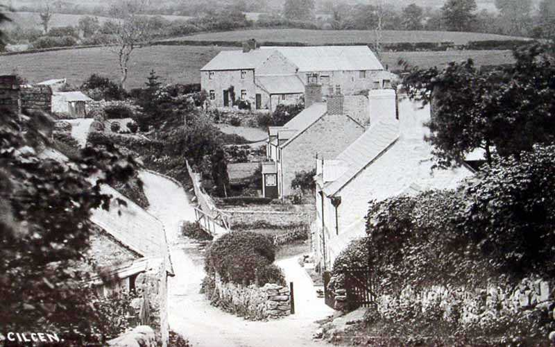 cilcain in north wales an old photo of the village