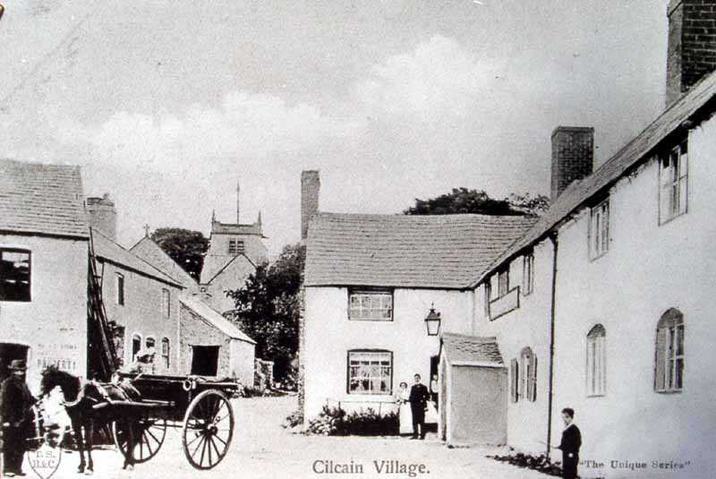 cilcain village and a horse drawn carriage