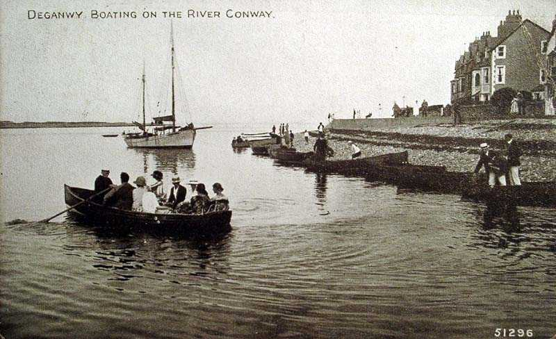 deganwy boating on the river conway in 1926