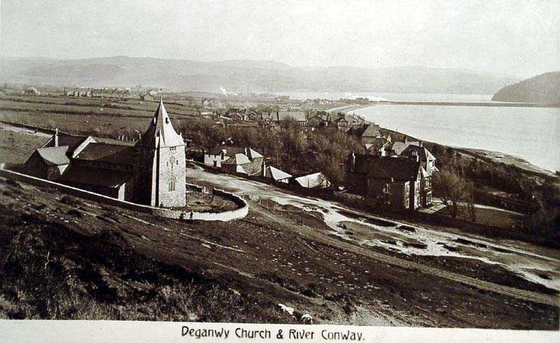 deganwy church and river conwy