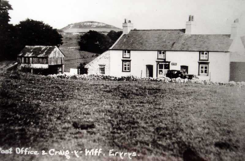 eryrys post office and craig y wiff in times past