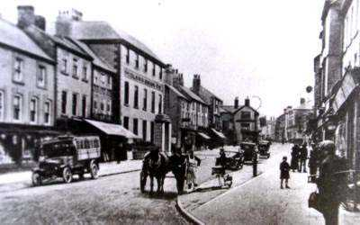 Holywell High Street from Cross Street old photo