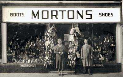Holywell Morton's Shoe Shop in times past
