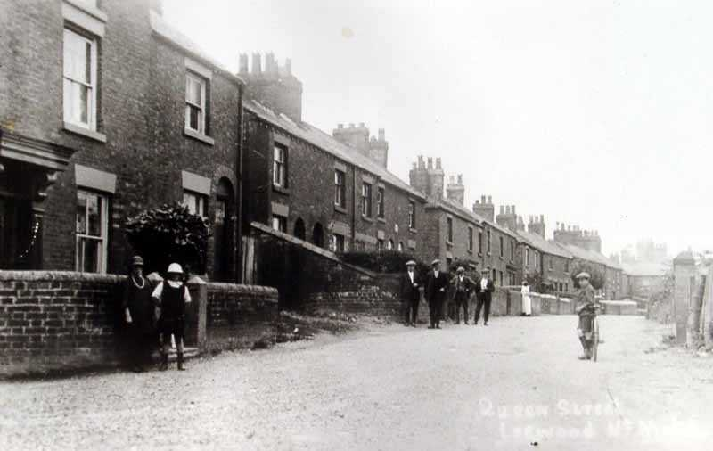 leeswood queen street with villagers posing