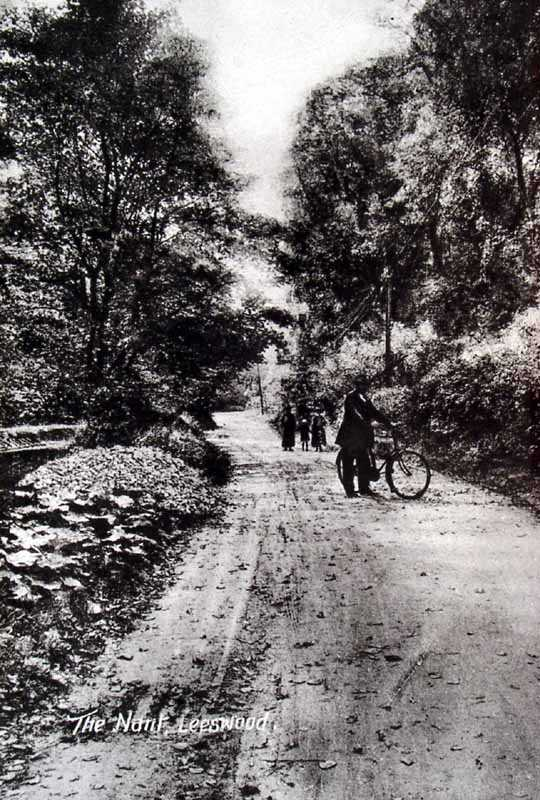 leeswood the nant with cyclists in times past