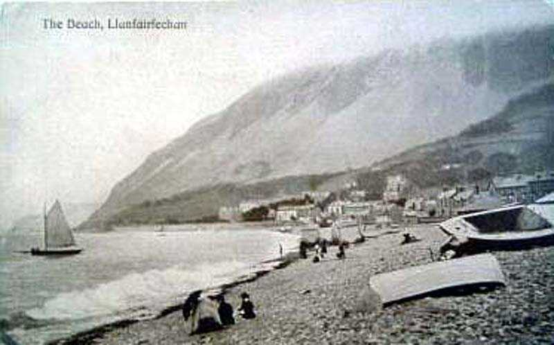 llanfairfechan beach in the 1900's