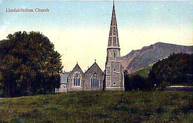 llanfairfechan church in the 1920's