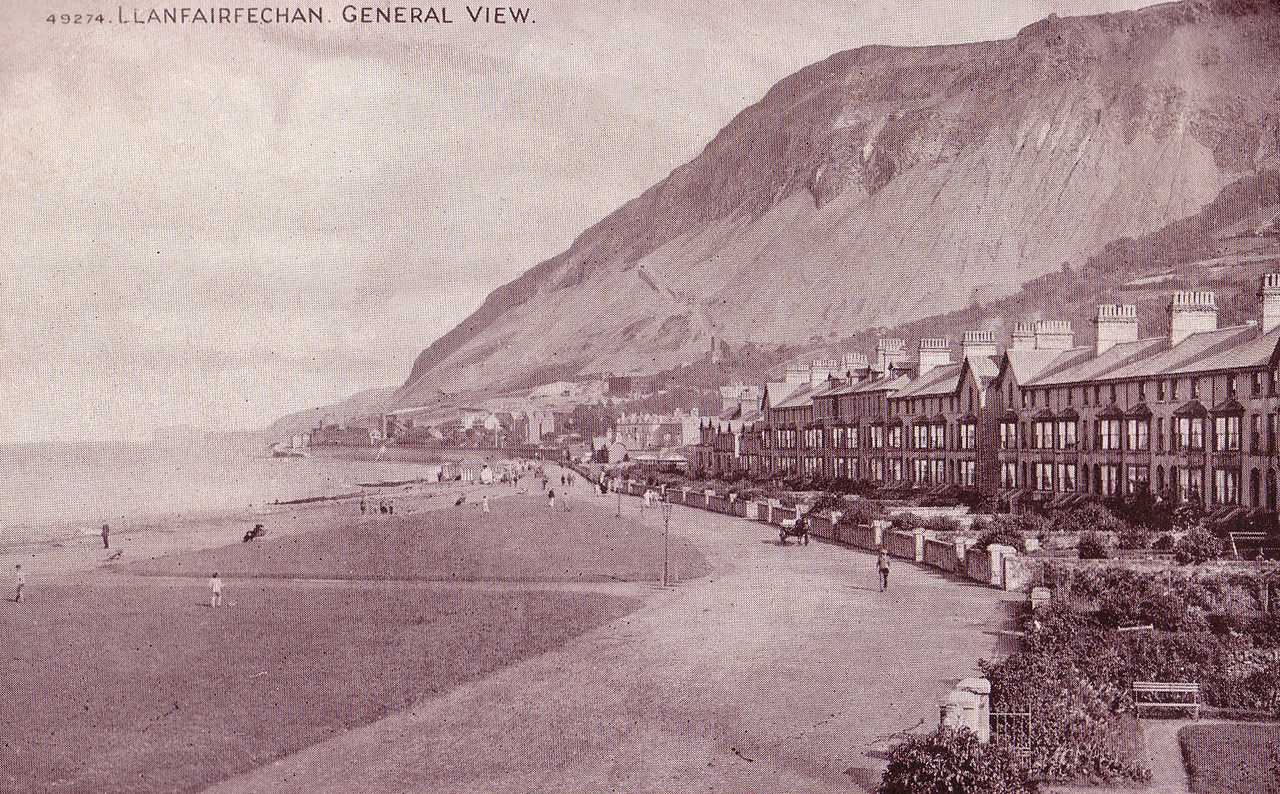 llanfairfechan general view in the 1890s