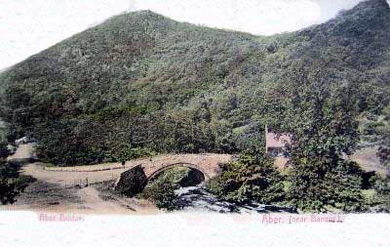 llanfairfechan, aber bridge in the 1900's
