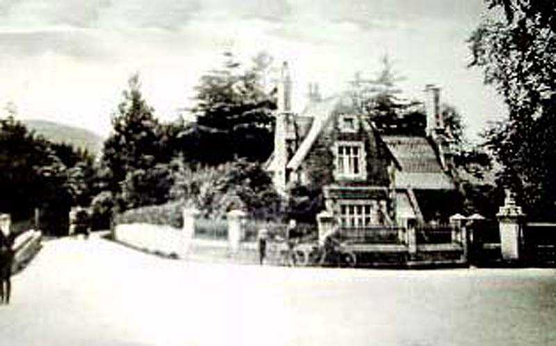 llanfairfechan, brynyneuadd lodge in the 1900's