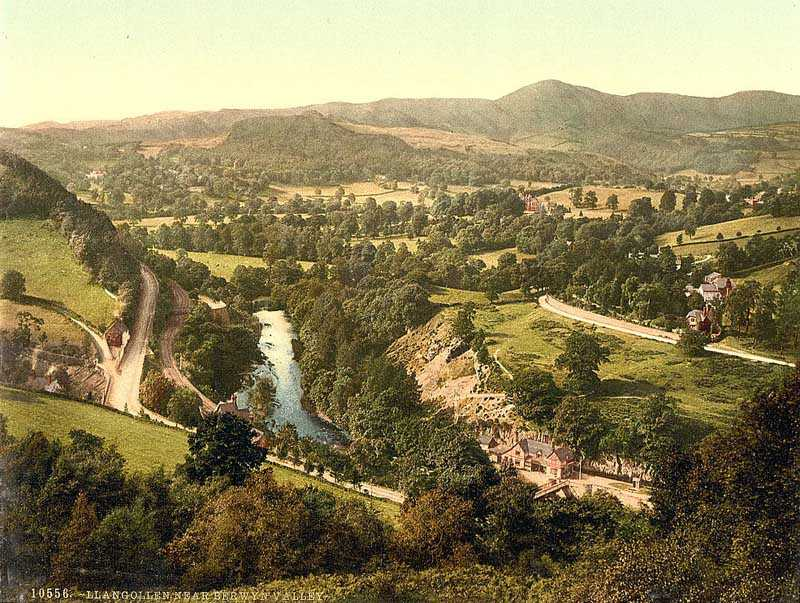 llangollen - berwyn valley old photo