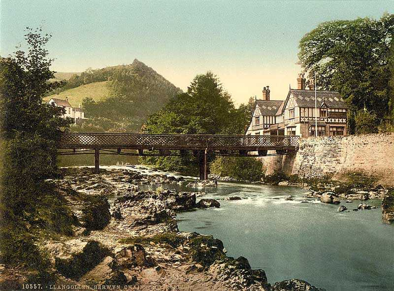 llangollen - chain bridge hotel, berwyn valley